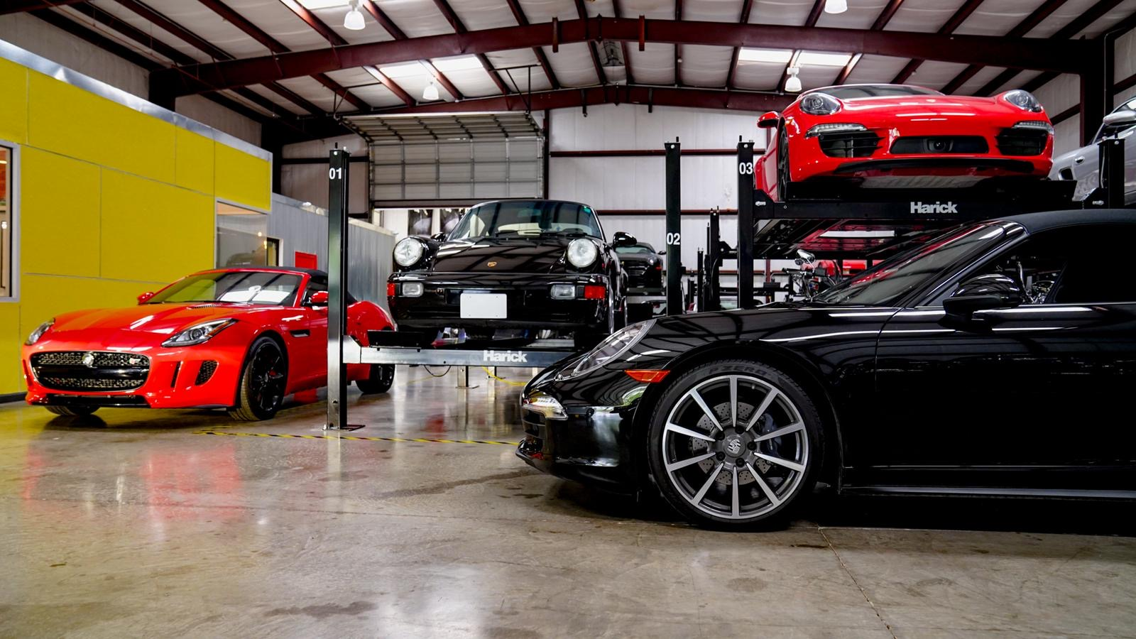 Vehicles maintained and stored inside our full range auto services location